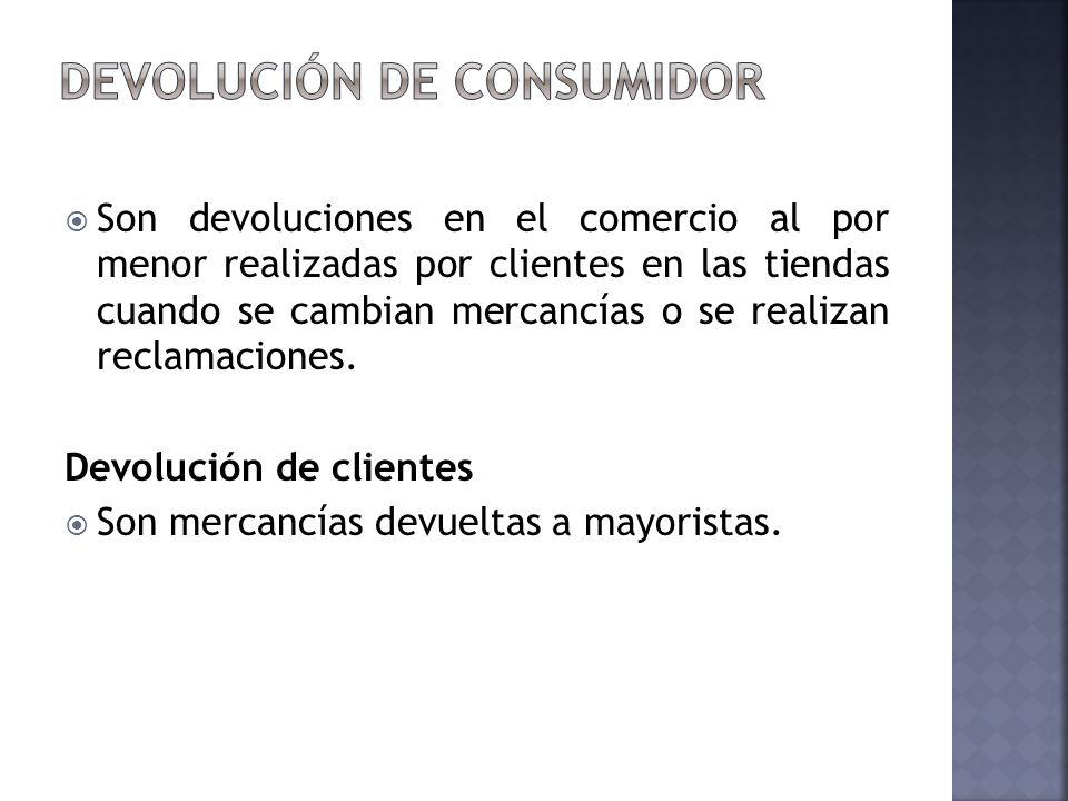 Devolución de consumidor
