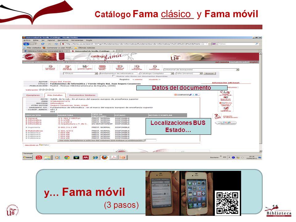 Catálogo Fama clásico y Fama móvil