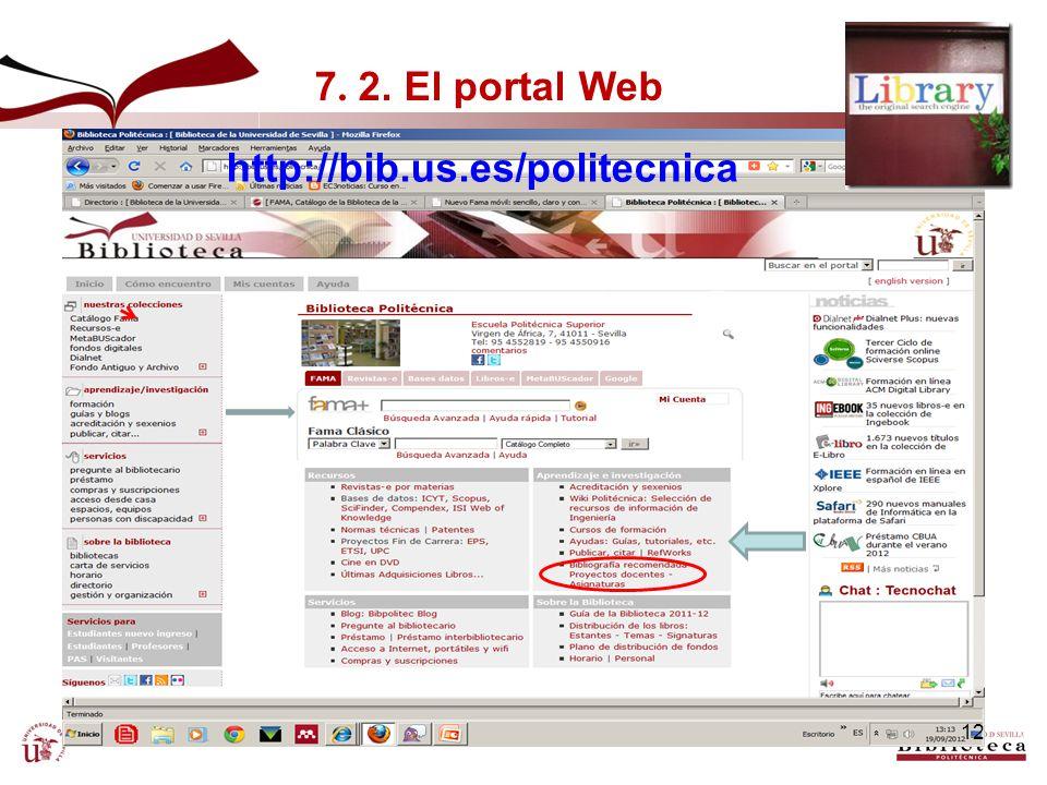 7. 2. El portal Web http://bib.us.es/politecnica
