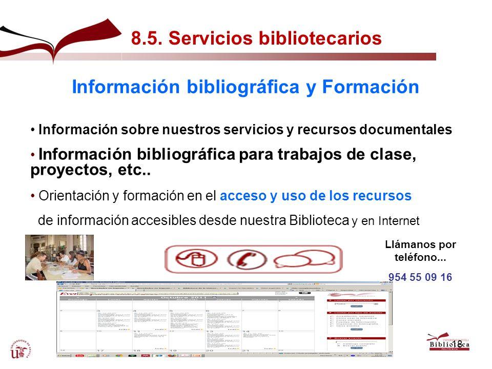 Información bibliográfica y Formación