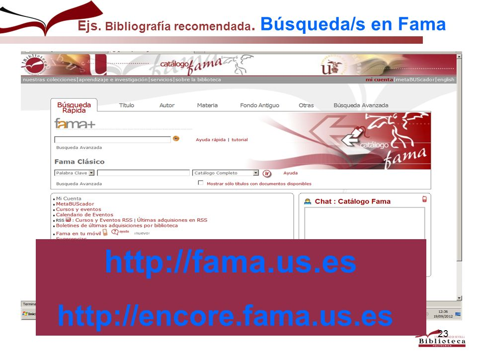 http://fama.us.es http://encore.fama.us.es