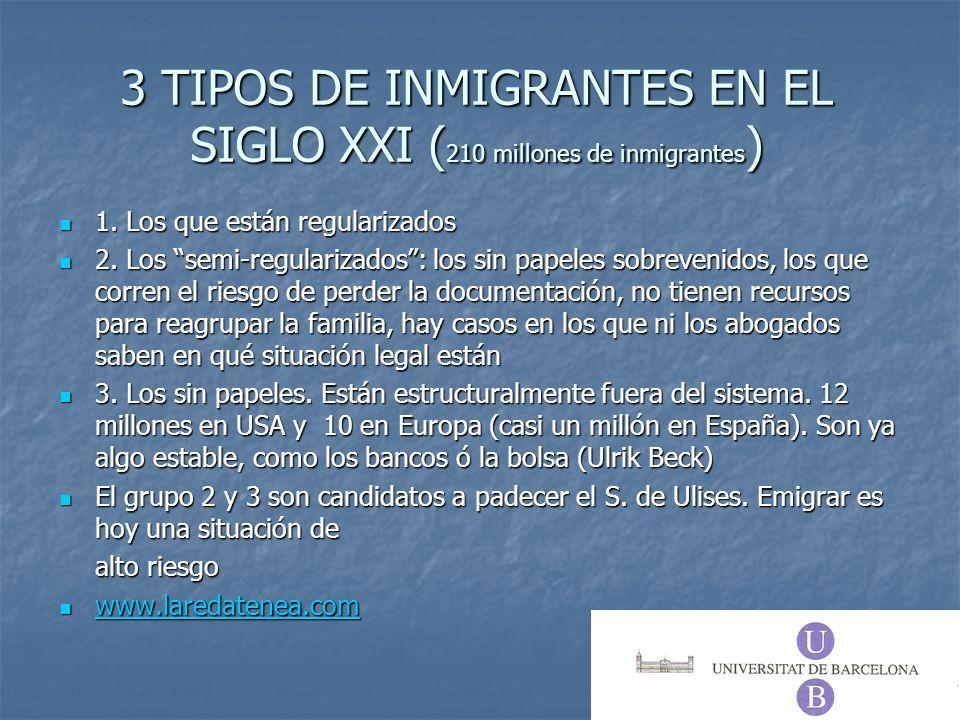3 TIPOS DE INMIGRANTES EN EL SIGLO XXI (210 millones de inmigrantes)