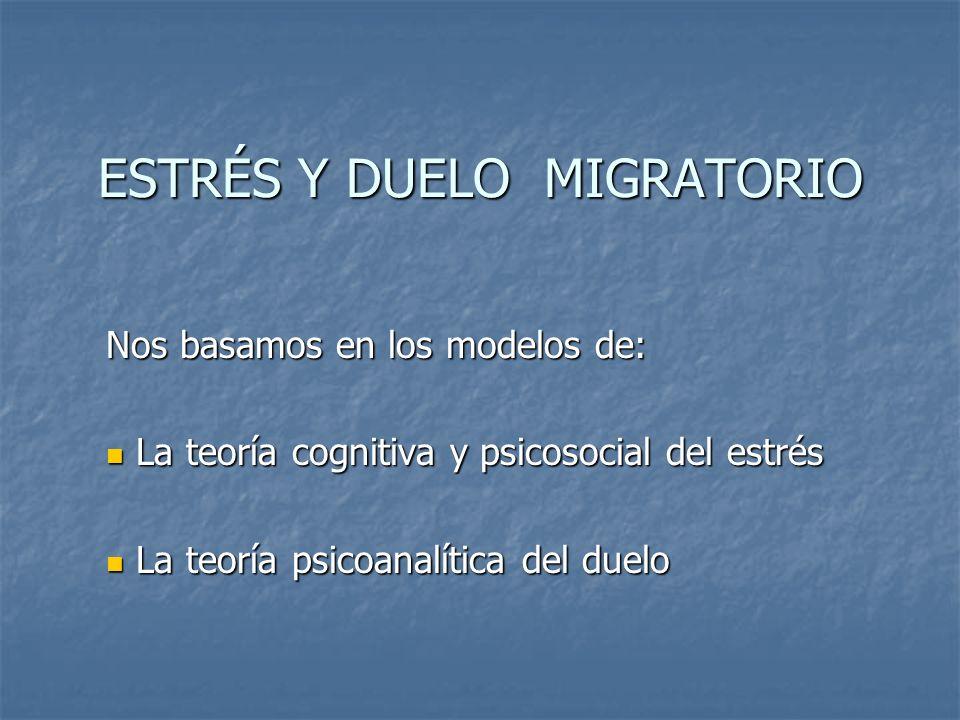 ESTRÉS Y DUELO MIGRATORIO
