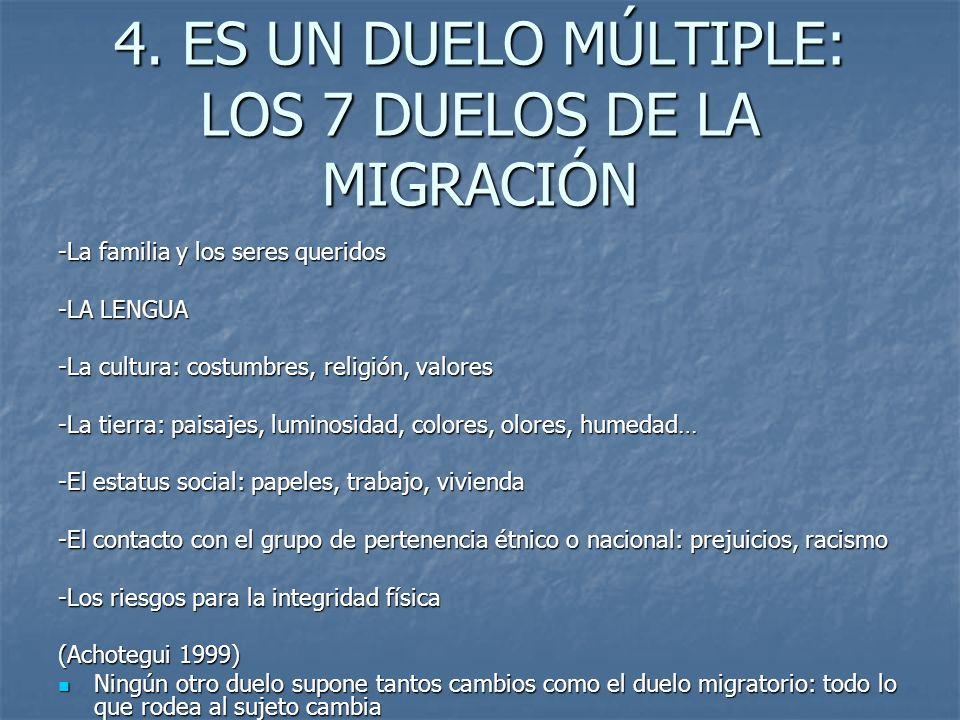 4. ES UN DUELO MÚLTIPLE: LOS 7 DUELOS DE LA MIGRACIÓN