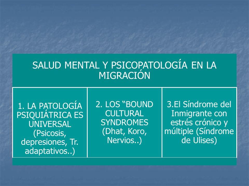 SALUD MENTAL Y PSICOPATOLOGÍA EN LA MIGRACIÓN