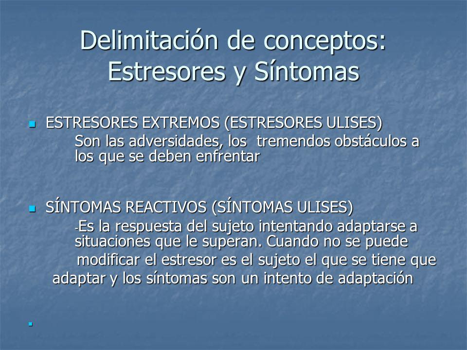 Delimitación de conceptos: Estresores y Síntomas