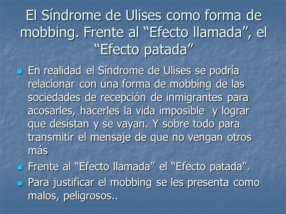 El Síndrome de Ulises como forma de mobbing