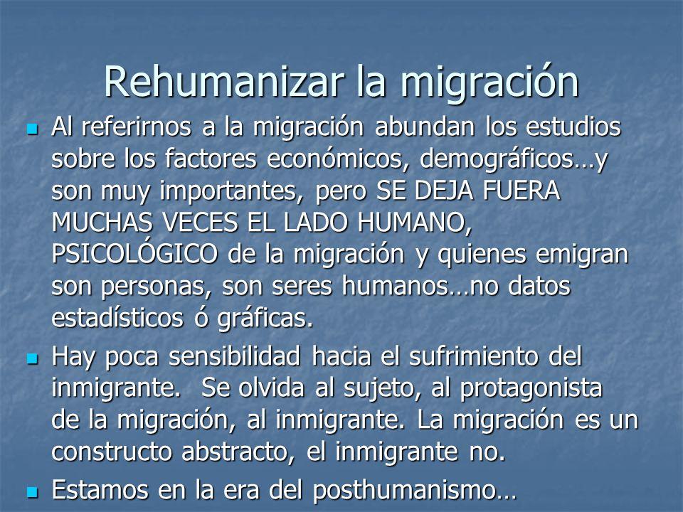 Rehumanizar la migración
