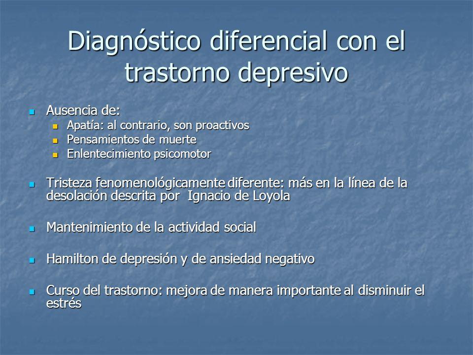 Diagnóstico diferencial con el trastorno depresivo
