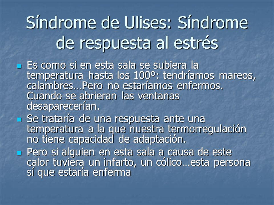 Síndrome de Ulises: Síndrome de respuesta al estrés