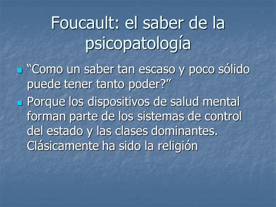 Foucault: el saber de la psicopatología