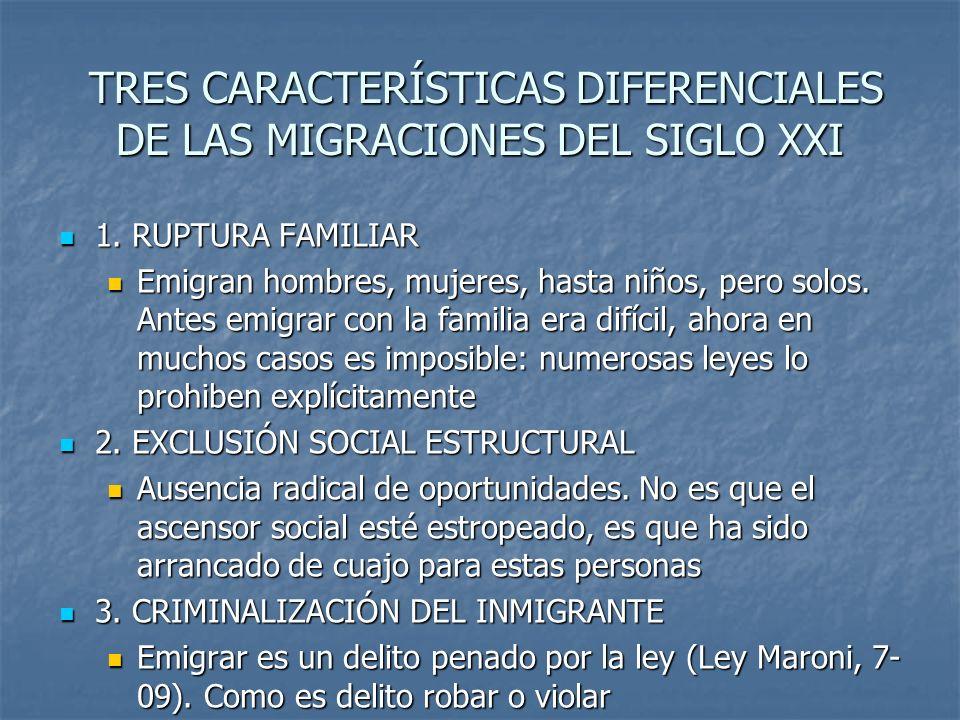 TRES CARACTERÍSTICAS DIFERENCIALES DE LAS MIGRACIONES DEL SIGLO XXI