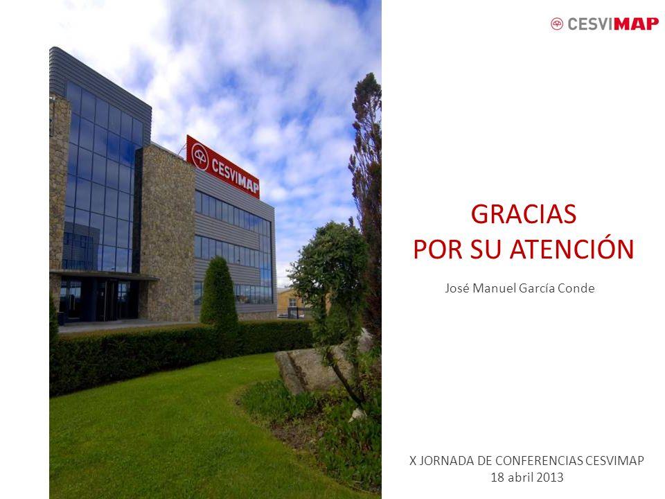 GRACIAS POR SU ATENCIÓN José Manuel García Conde