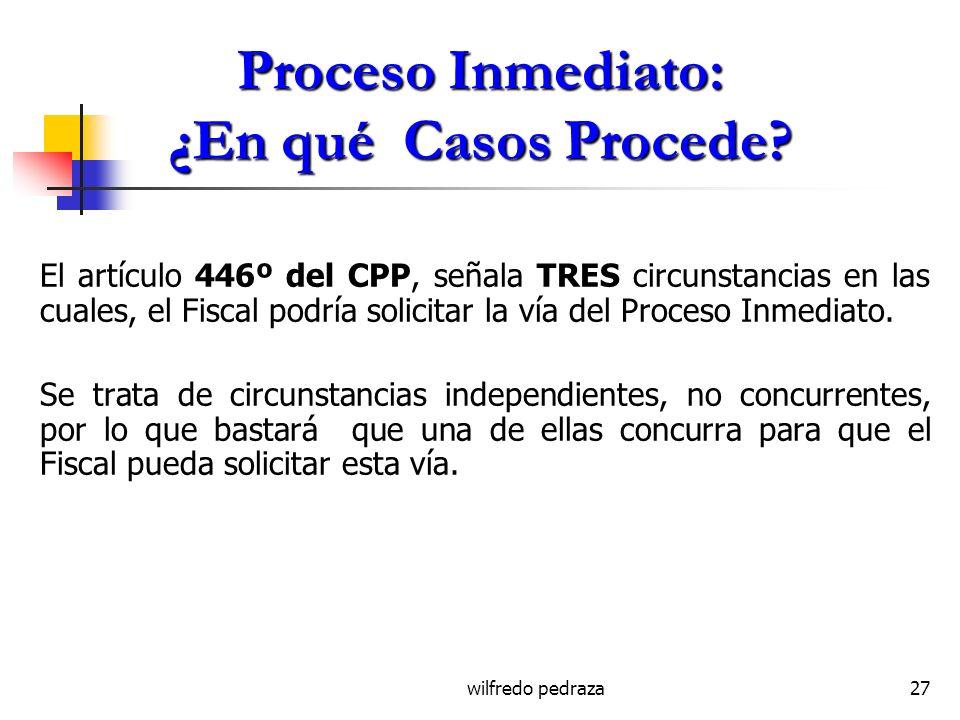 Proceso Inmediato: ¿En qué Casos Procede