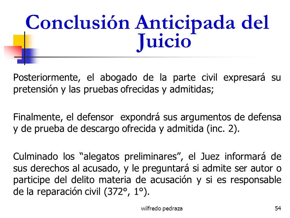 Conclusión Anticipada del Juicio