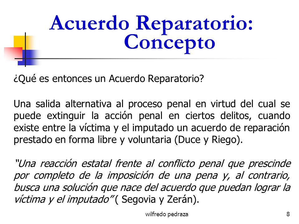 Acuerdo Reparatorio: Concepto