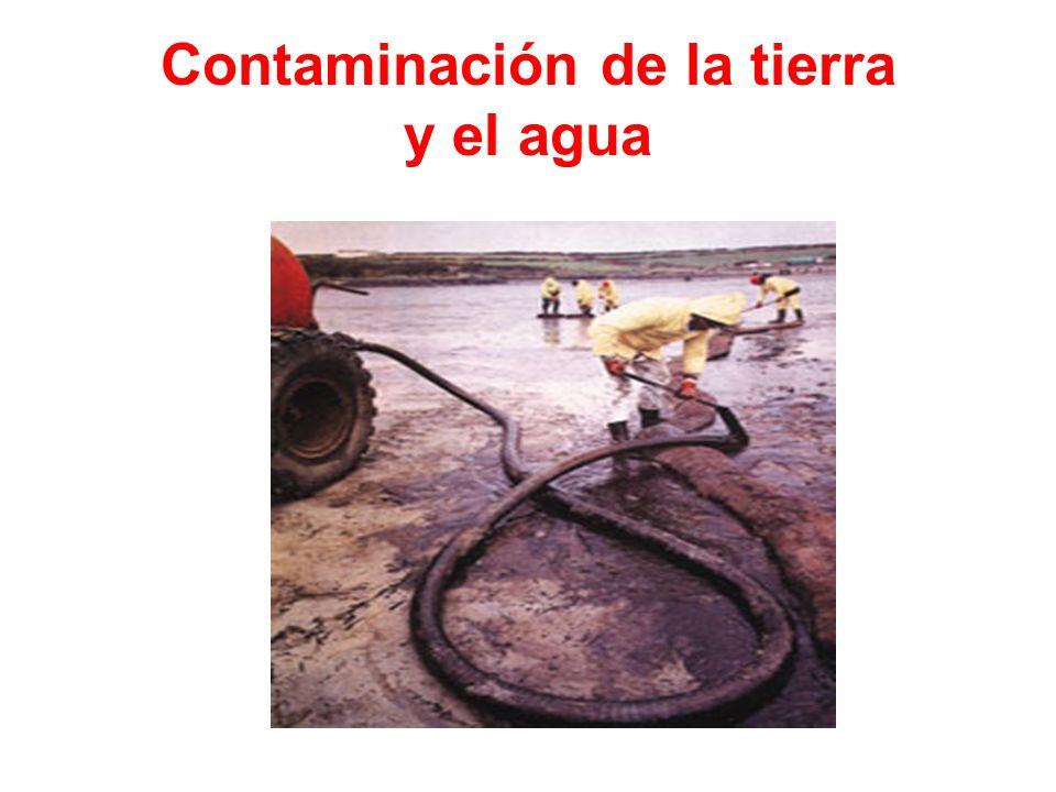 Contaminación de la tierra y el agua