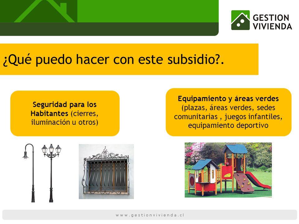 Seguridad para los Habitantes (cierres, iluminación u otros)