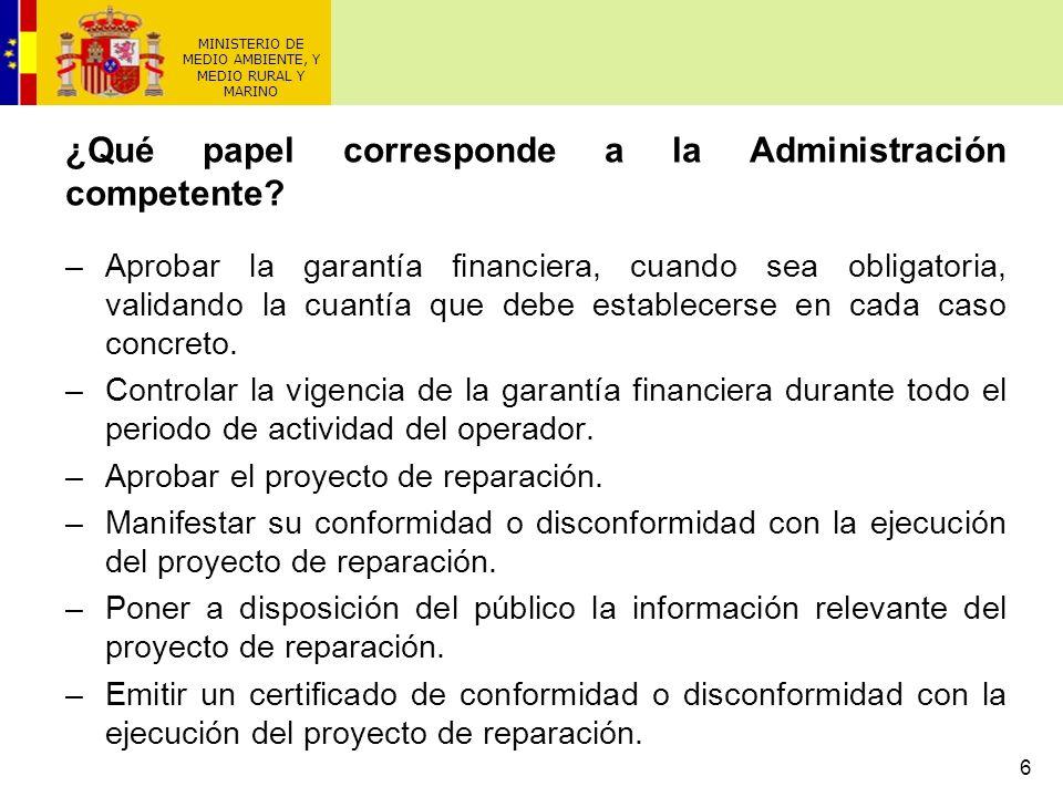 MINISTERIO DE MEDIO AMBIENTE, Y MEDIO RURAL Y MARINO