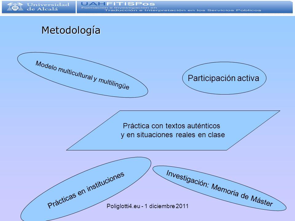 Metodología Participación activa Práctica con textos auténticos