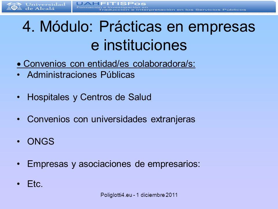 4. Módulo: Prácticas en empresas e instituciones