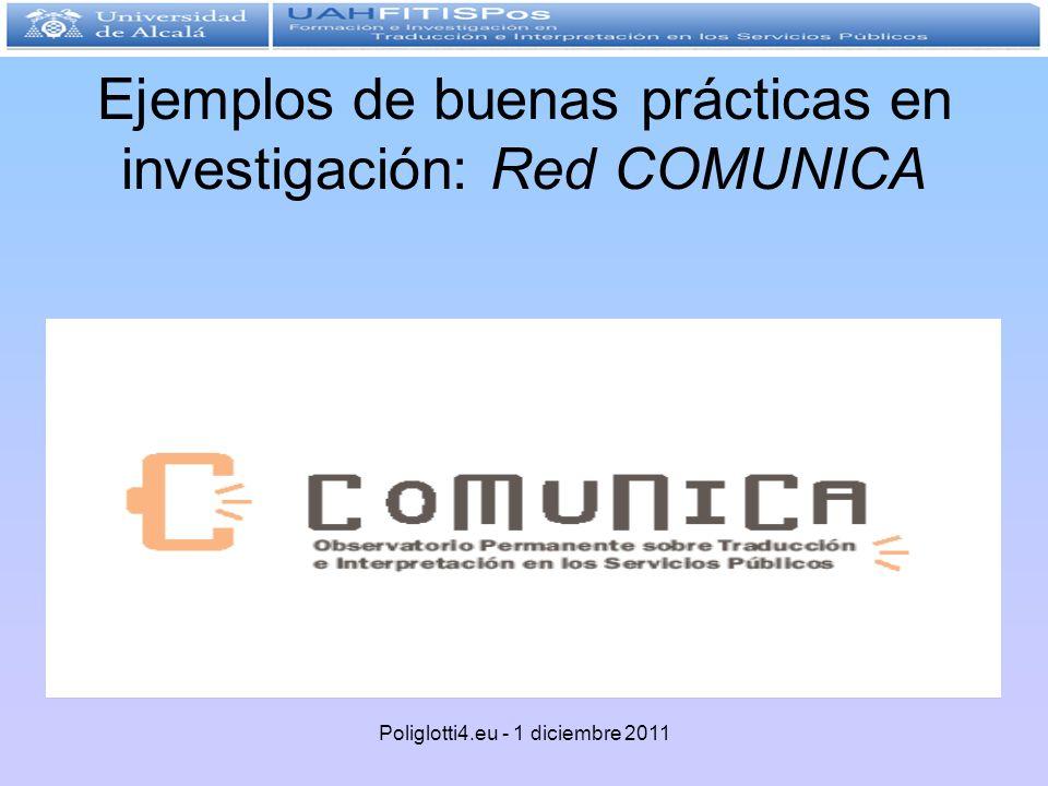 Ejemplos de buenas prácticas en investigación: Red COMUNICA