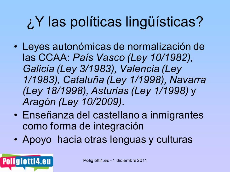 ¿Y las políticas lingüísticas