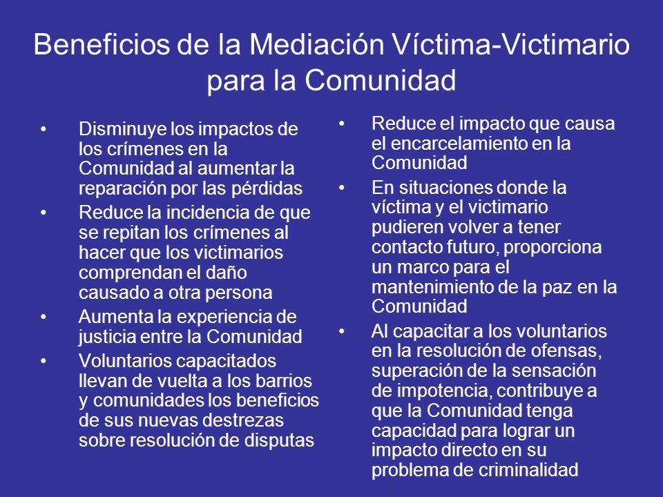 Beneficios de la Mediación Víctima-Victimario para la Comunidad