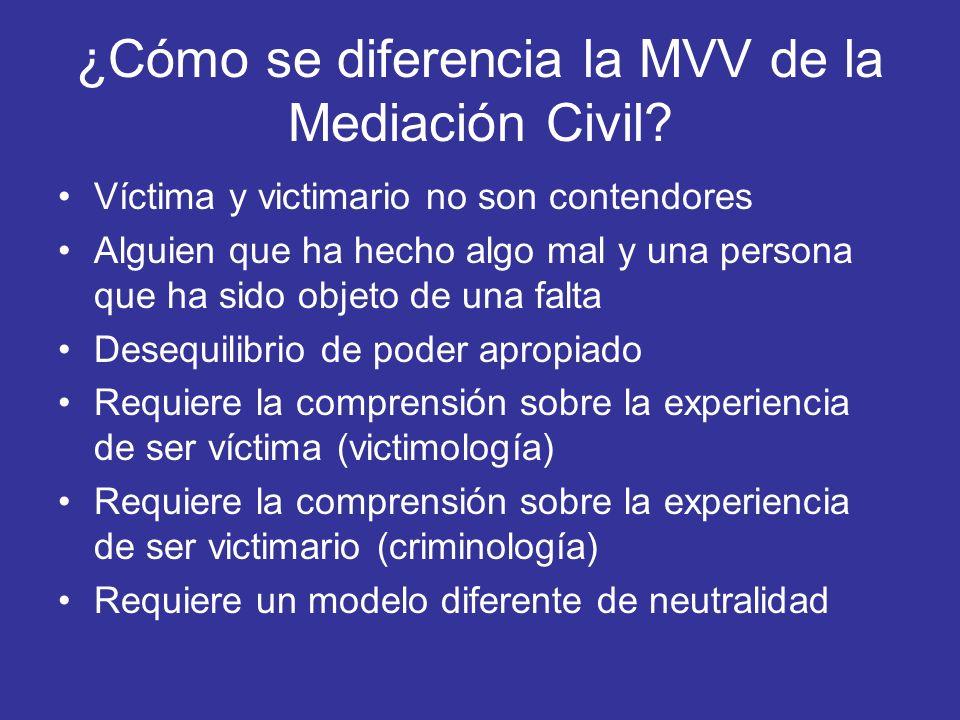 ¿Cómo se diferencia la MVV de la Mediación Civil