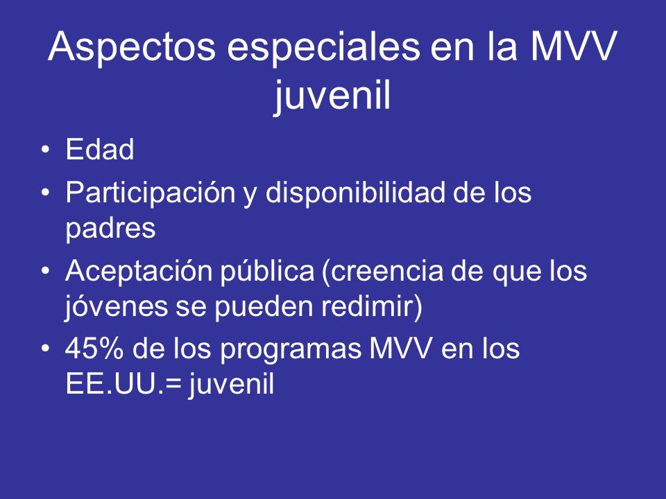 Aspectos especiales en la MVV juvenil
