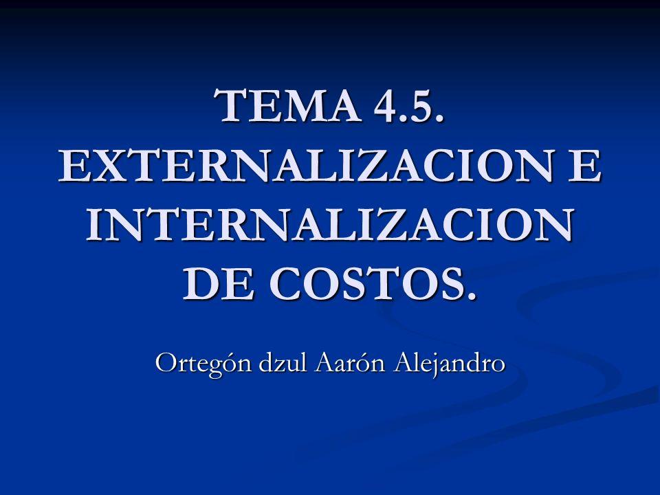 TEMA 4.5. EXTERNALIZACION E INTERNALIZACION DE COSTOS.