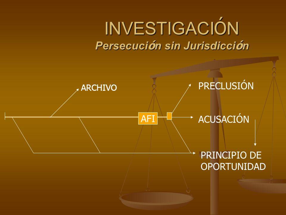INVESTIGACIÓN Persecución sin Jurisdicción
