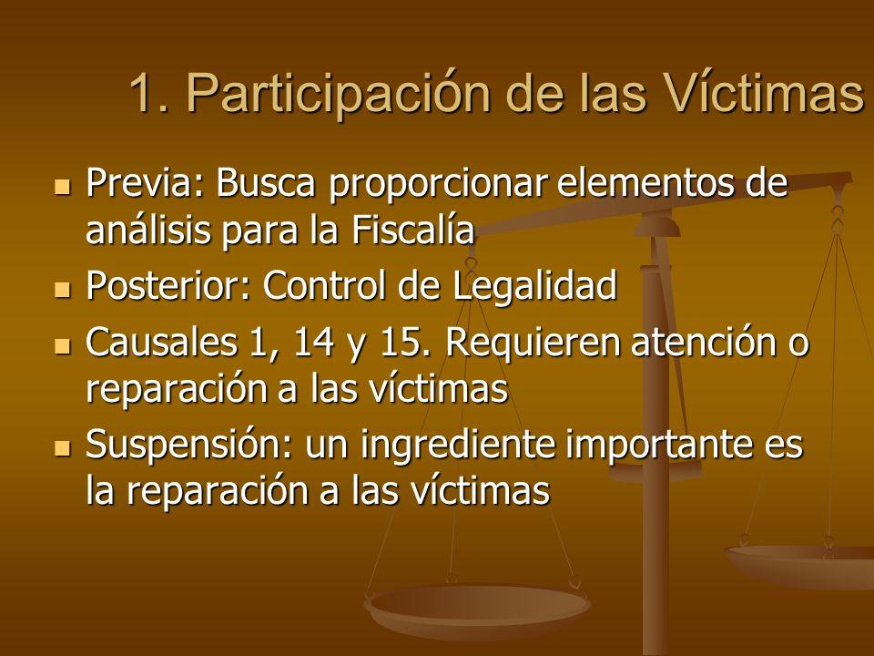 1. Participación de las Víctimas