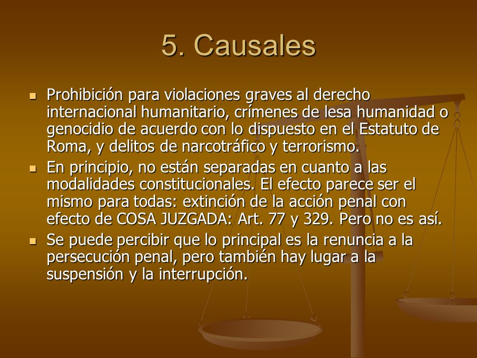 5. Causales