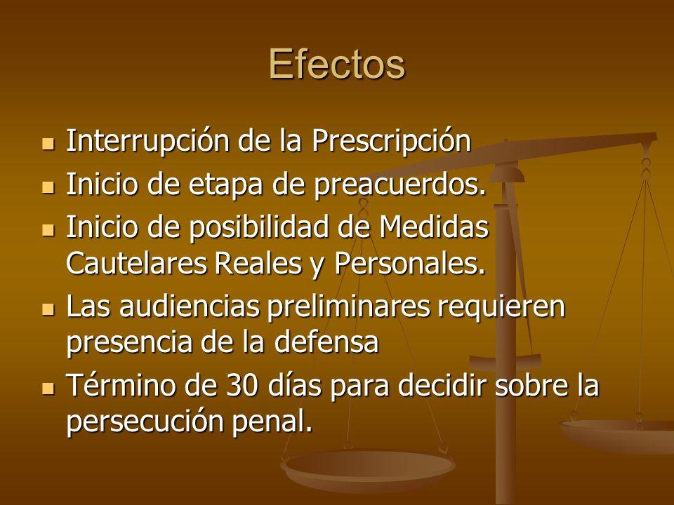 Efectos Interrupción de la Prescripción