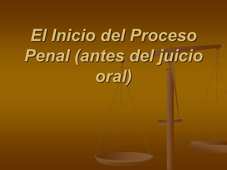 El Inicio del Proceso Penal (antes del juicio oral)