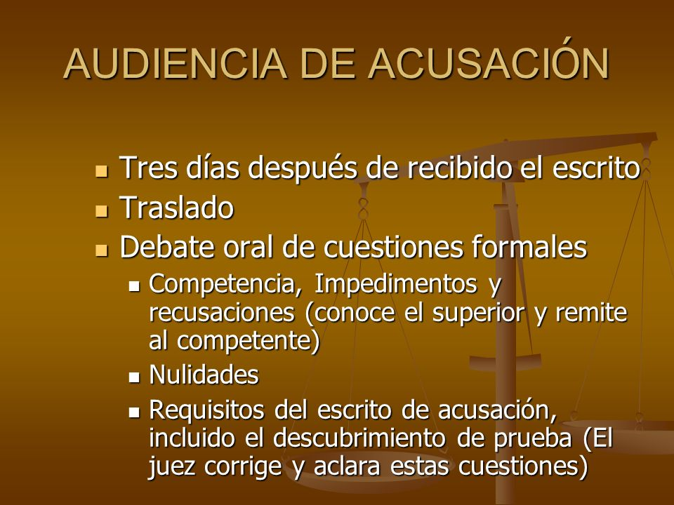 AUDIENCIA DE ACUSACIÓN