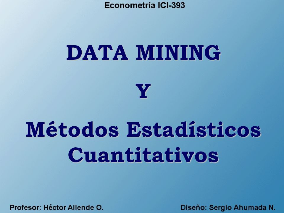 Métodos Estadísticos Cuantitativos