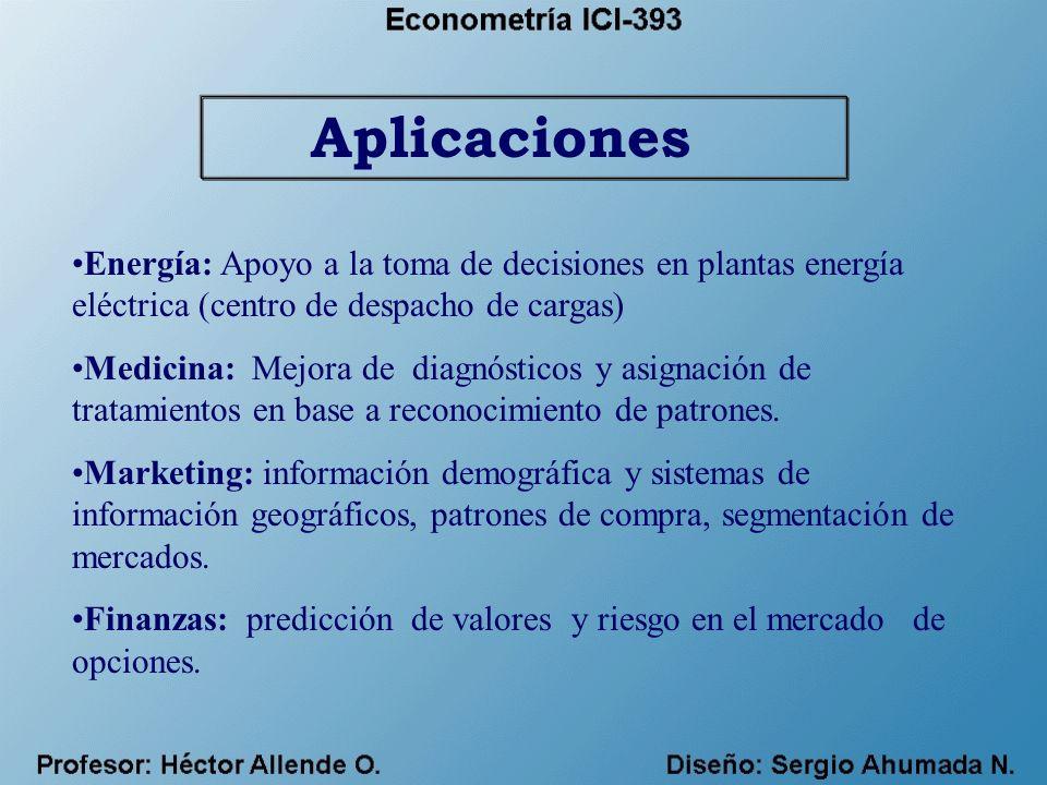 Aplicaciones Energía: Apoyo a la toma de decisiones en plantas energía eléctrica (centro de despacho de cargas)