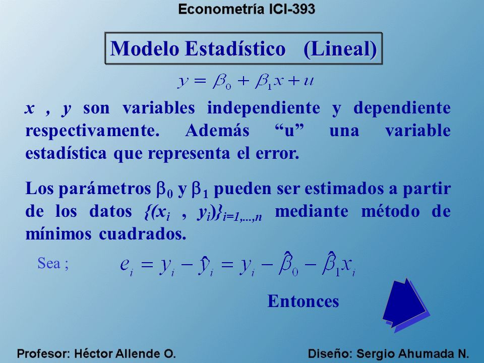 Modelo Estadístico (Lineal)