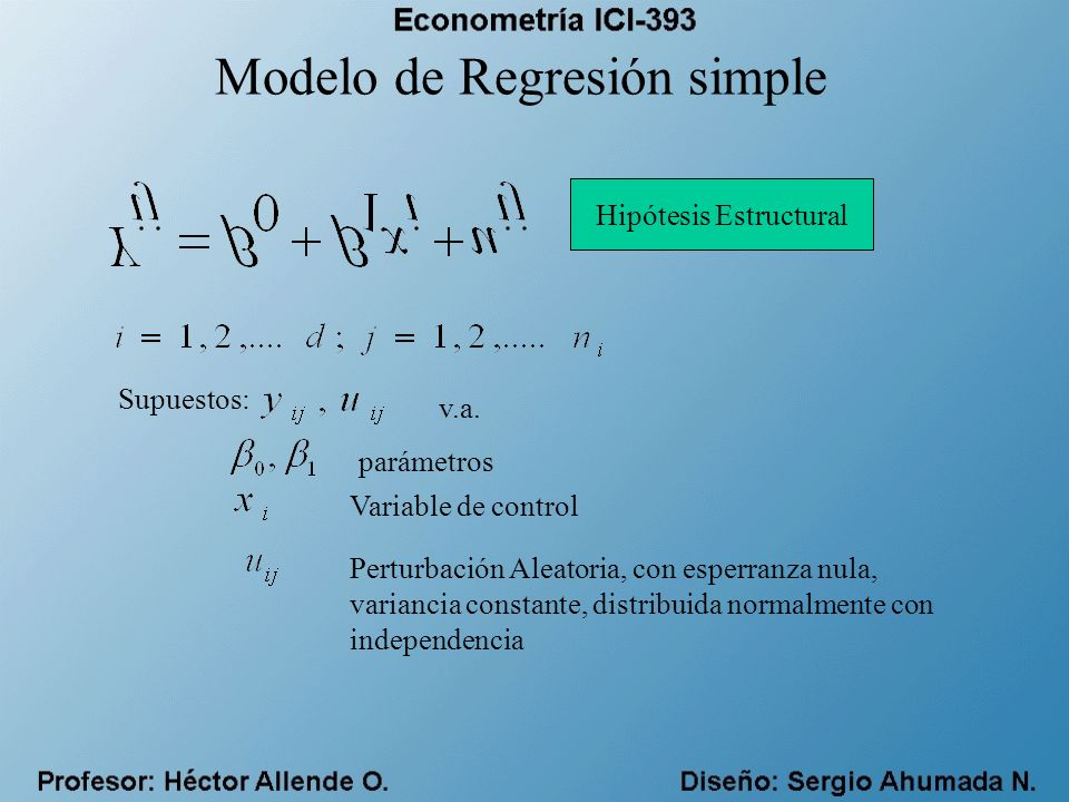 Modelo de Regresión simple