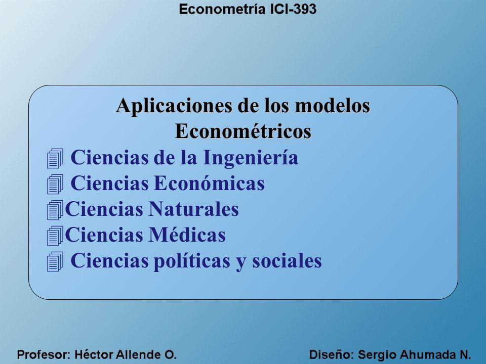 Aplicaciones de los modelos Econométricos