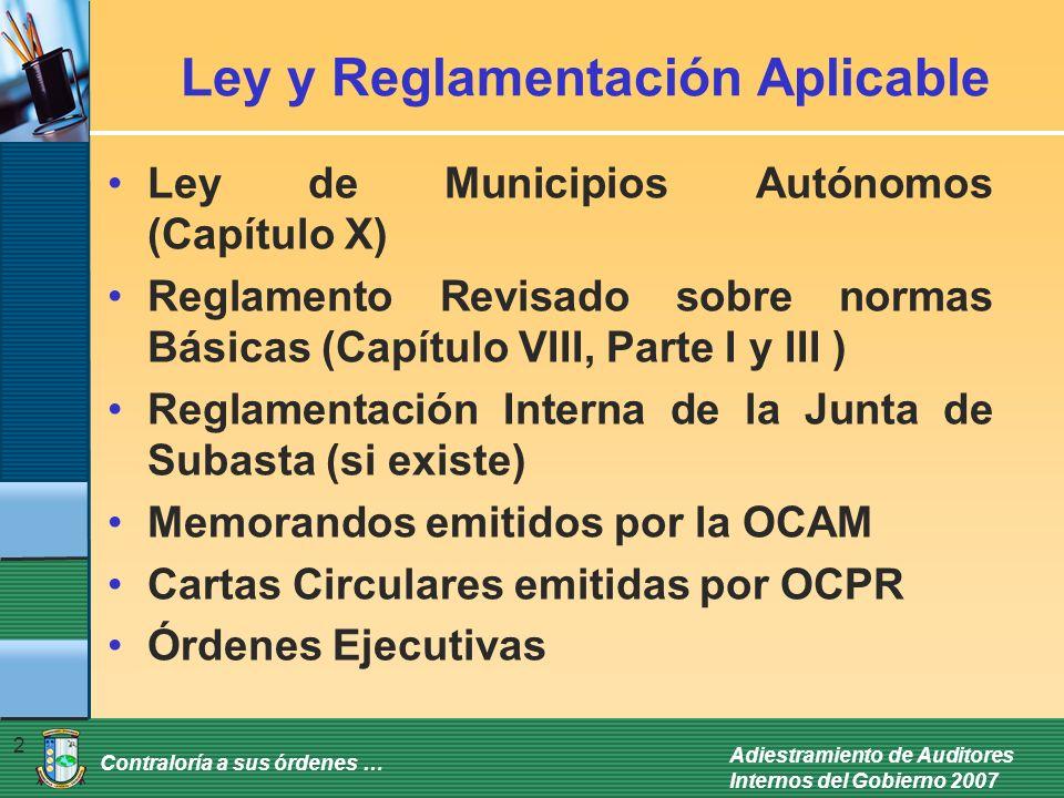 Ley y Reglamentación Aplicable