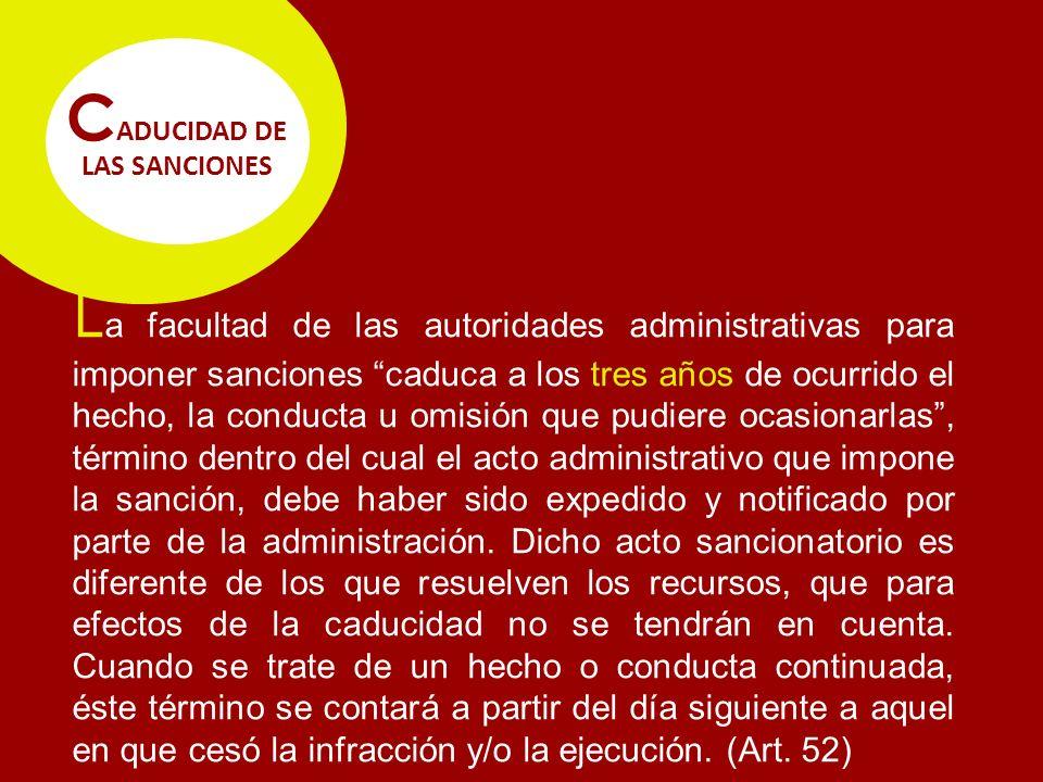 CADUCIDAD DE LAS SANCIONES