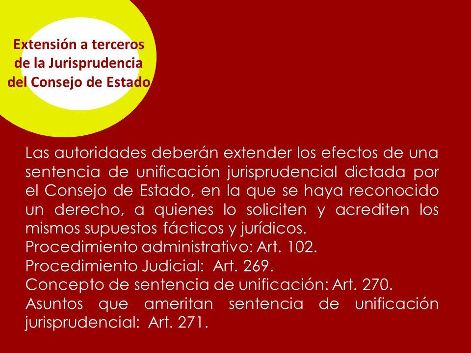 Extensión a terceros de la Jurisprudencia del Consejo de Estado