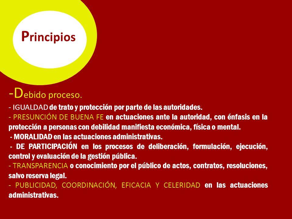 Principios -Debido proceso.