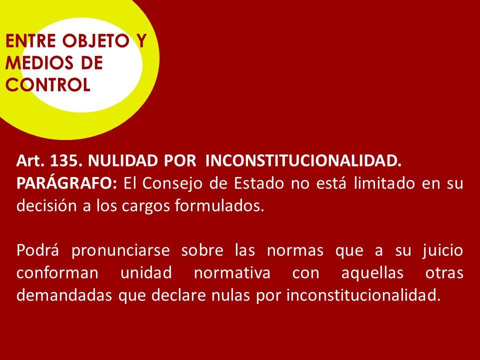ENTRE OBJETO Y MEDIOS DE CONTROL