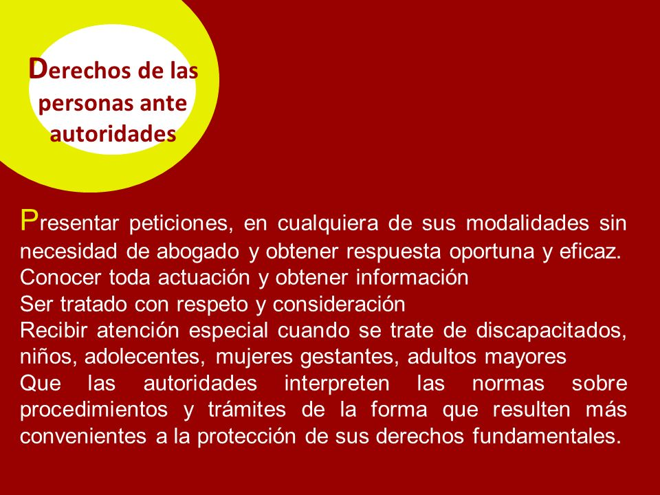 Derechos de las personas ante autoridades