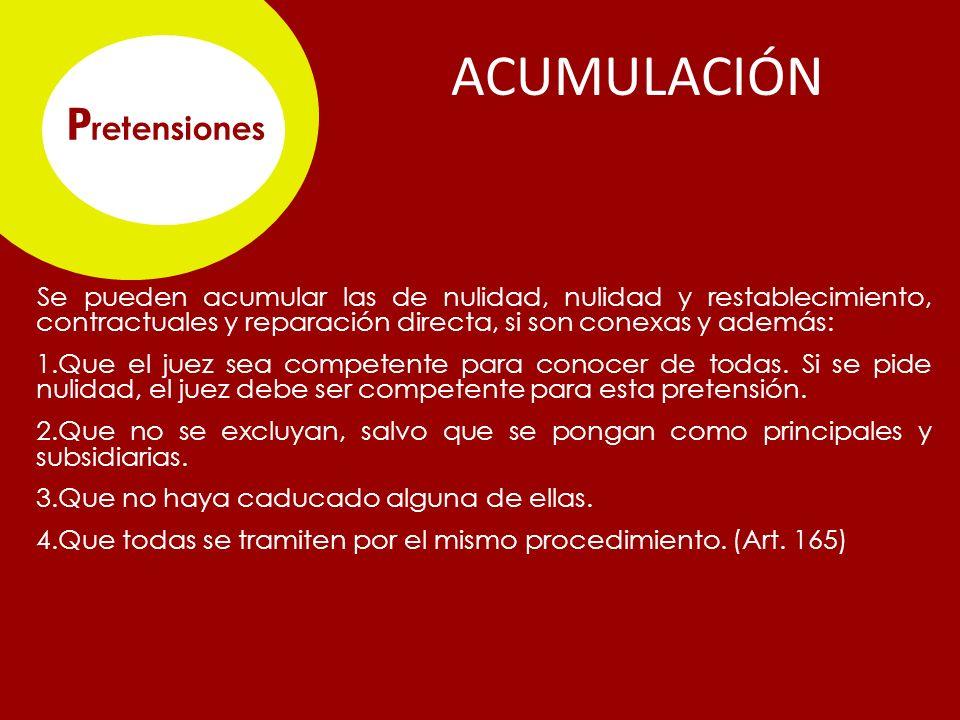 ACUMULACIÓN Pretensiones