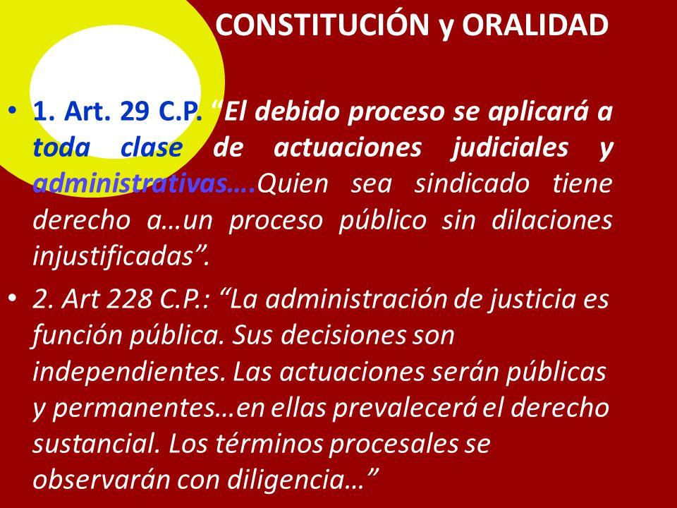 CONSTITUCIÓN y ORALIDAD